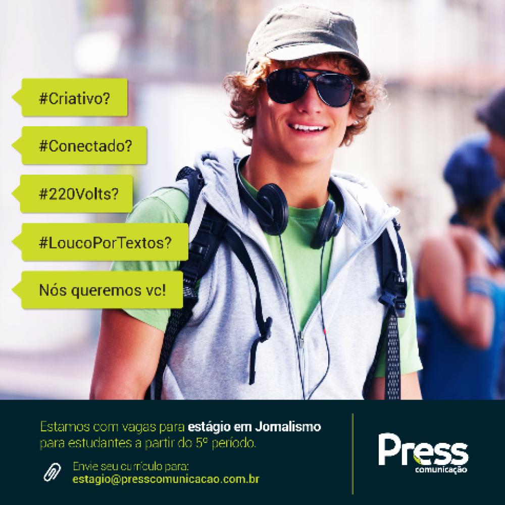 oportunidade de vaga de estágio para estudantes de jornalismo