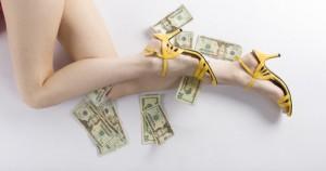 dinheiro sapato